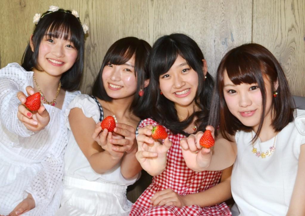 From left to right, Rina Maruyama (14), Nodoka Matsumoto (19), Hinata Kotera (13) and Chihiro Fujiwara (20)